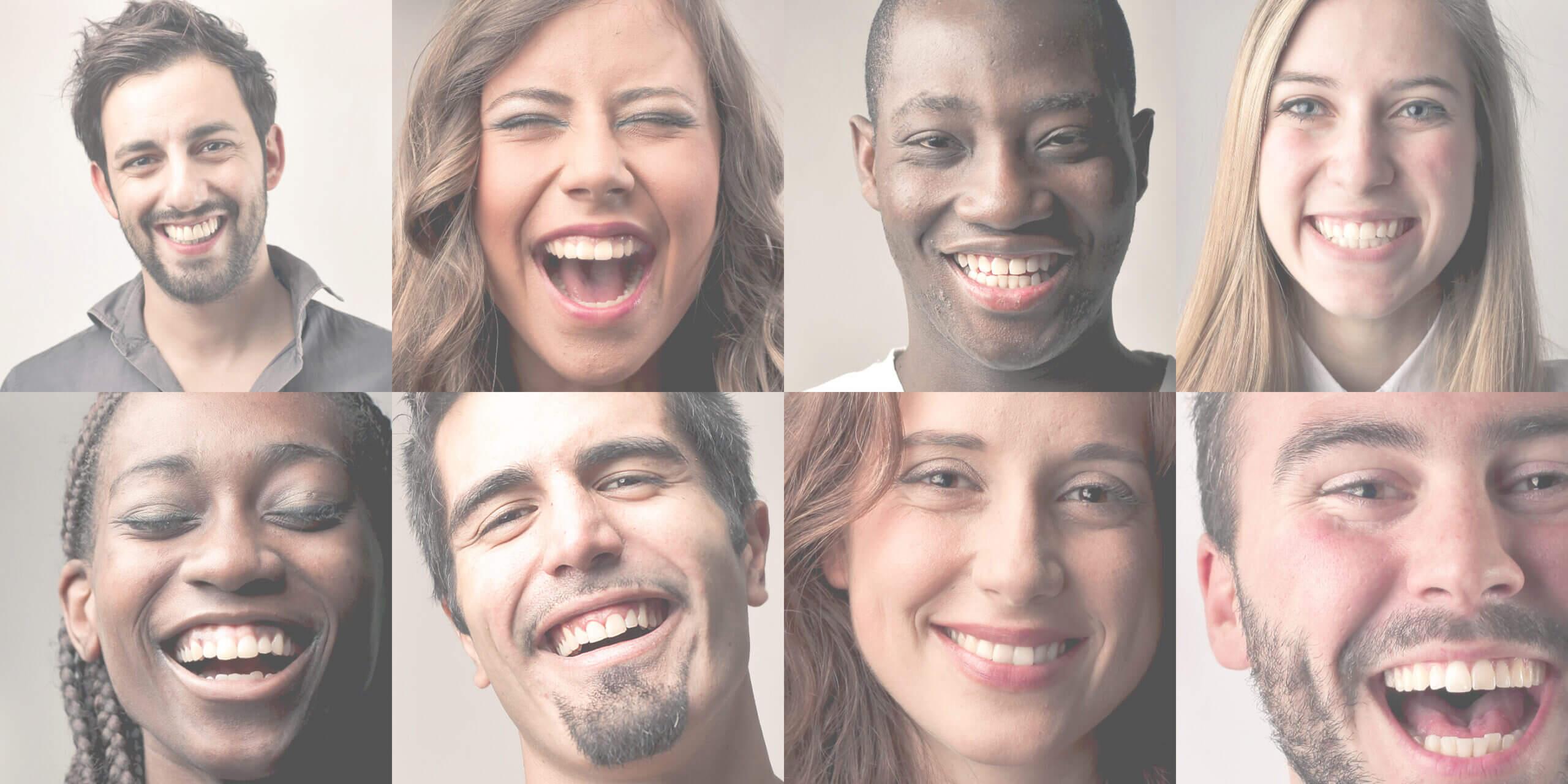 Strahlendes Lachen von Patienten