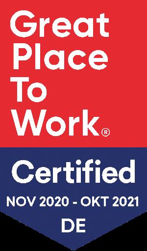 Wir sind Great Place To Work zertifiziert